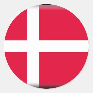 Danmark flagga klistermärke