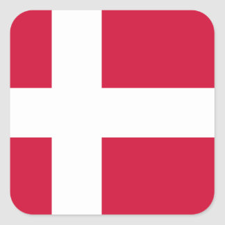 Danmark flagga fyrkantiga klistermärken
