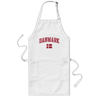 Danmark + Flagga Långt Förkläde