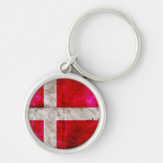 Danmark flagga nyckel ringar
