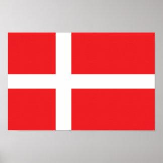 Danmark flagga poster