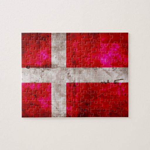 Danmark flagga pussel med foto