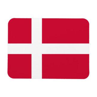 Danmark flagga rektangel magnet