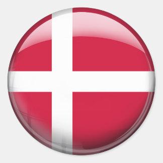 Danmark flagga runt klistermärke