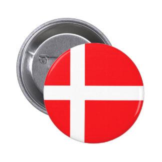 Danmark flagga standard knapp rund 5.7 cm