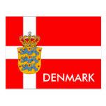 Danmark flagga & vapensköldvykort! vykort