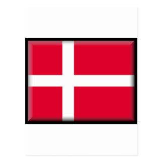 Danmark flagga vykort