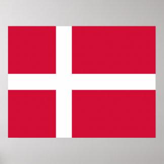 Danmark flaggadesign posters