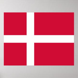 Danmark flaggadesign affischer