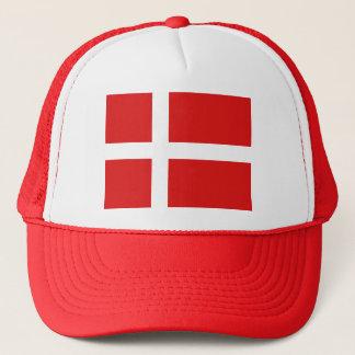 Danmark flaggahatt keps