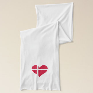 Danmark flaggahjärta sjal