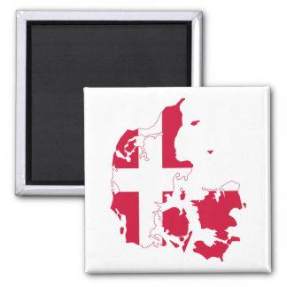 Danmark flaggakarta magnet