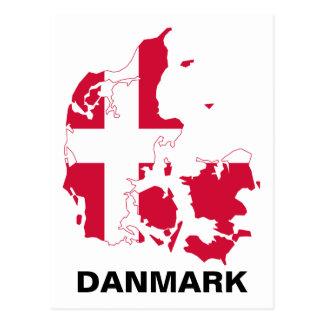 Danmark flaggakarta vykort