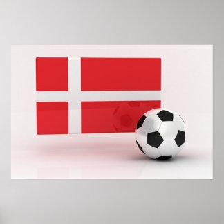 Danmark fotboll affisch