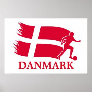 Danmark fotbollflagga posters