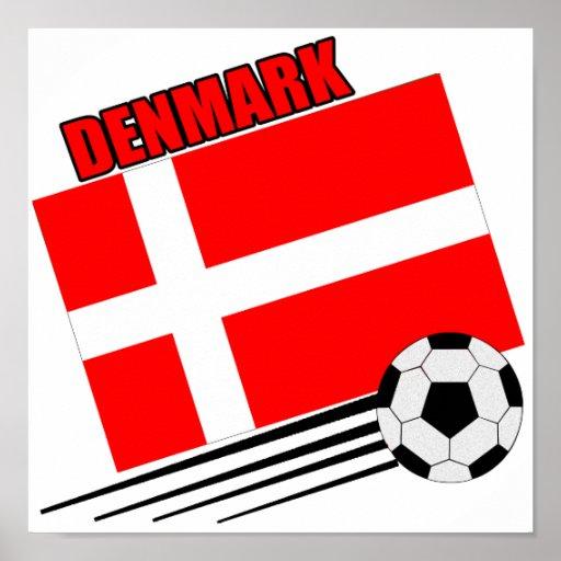 Danmark - fotbolllag affischer