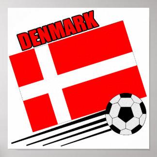 Danmark - fotbolllag poster