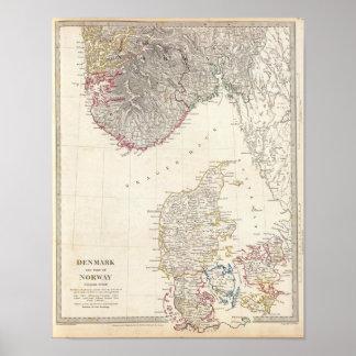 Danmark halv liter av norge print