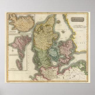 Danmark island, Feroe öar Affisch