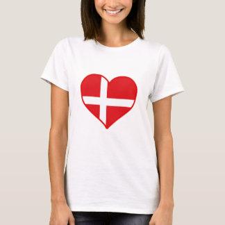 Danmark kärlek t-shirt