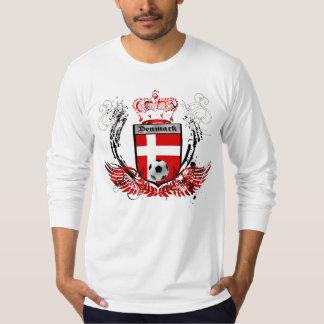 Danmark kungar av soccerfudboldvapensköldemblemen tröjor