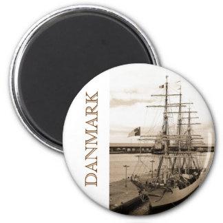 Danmark Magnet Rund 5.7 Cm