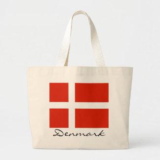 Danmark med Dannebrog Tote Bags