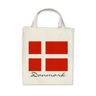 Danmark med Dannebrog Tygkassar