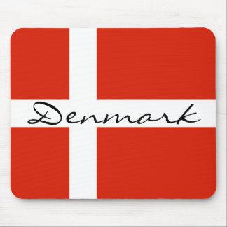 Danmark med Dannebrog Musmatta