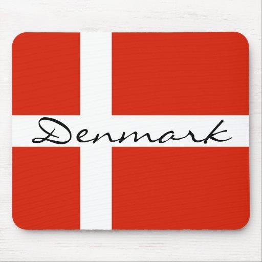 Danmark med Dannebrog Musmattor
