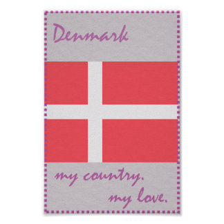 Danmark mitt land min kärlek poster