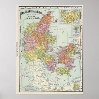 Danmark och island poster