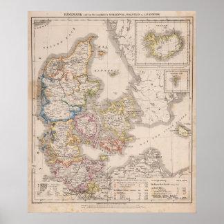 Danmark och Tyskland Poster