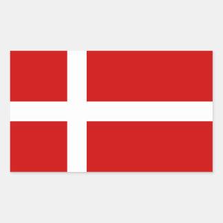 Danmark Rektangulärt Klistermärke