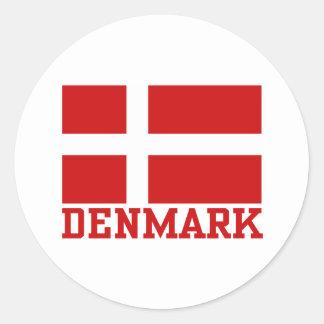 Danmark Runt Klistermärke