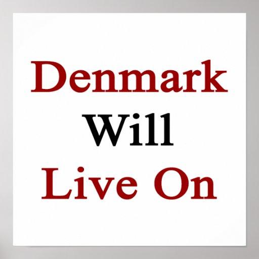 Danmark ska direkt på affischer