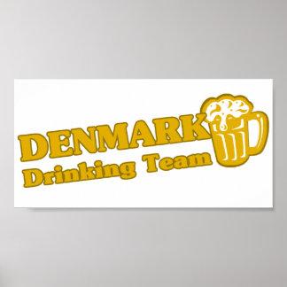 Danmark som dricker laget print