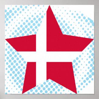 Danmark stjärna affischer
