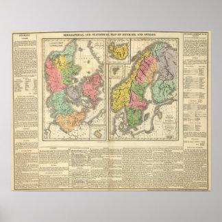 Danmark, sverige och norge print