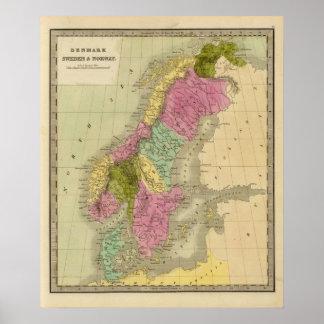 Danmark, sverige och norge poster