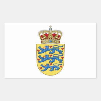 Danmark vapensköld rektangelformat klistermärke