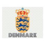Danmark vapensköld vykort