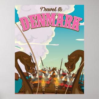 Danmark Vikings reser den roliga tecknaden Poster