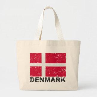 Danmark vintageflagga jumbo tygkasse