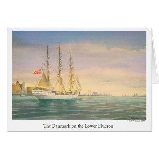 Danmarken på den lägre Hudsonen Hälsningskort