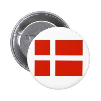 Dannebrog; Den officiella flagga av Danmark Knappar Med Nål