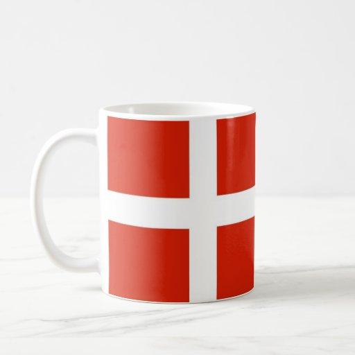Dannebrog; Den officiella flagga av Danmark Kaffe Koppar
