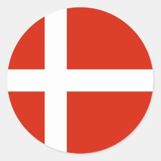 Dannebrog; Den officiella flagga av Danmark Runt Klistermärke