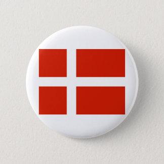 Dannebrog; Den officiella flagga av Danmark Standard Knapp Rund 5.7 Cm