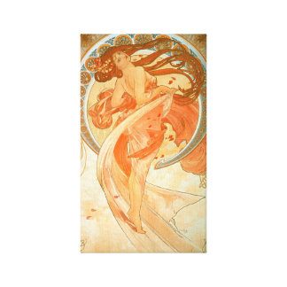 """Dans"" - Alphonse Mucha - vintageart nouveau Canvastryck"